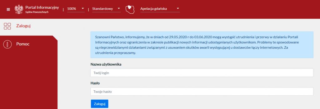 Portal Informacji Sądowej