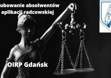 Uroczyste ślubowanie absolwentów aplikacji radcowskiej przy OIRP w Gdańsku